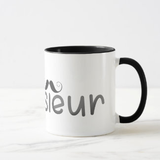 MONSIEUR - FUN TEXT - BLACK - Mug