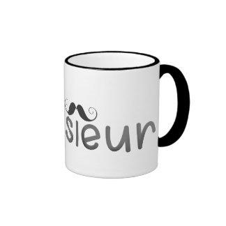 MONSIEUR - FUN TEXT - BLACK - Mug