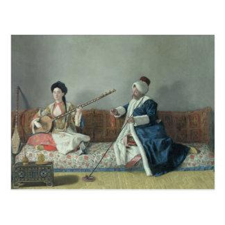 Monsieur Levett and Mademoiselle Helene Postcard