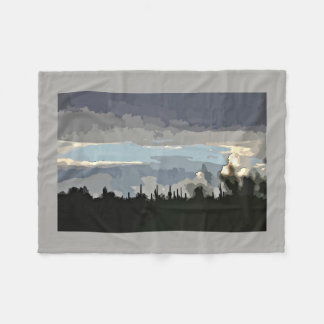 Monsoon in the Tontos Cartoon Fleece Blanket