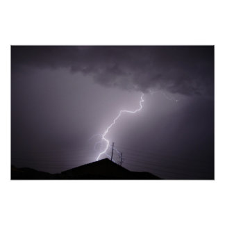 Monsoon Lightning Bolt, Arizona Poster