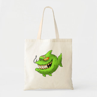 monstafish series budget tote bag