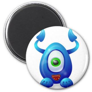 Monster 2 6 cm round magnet