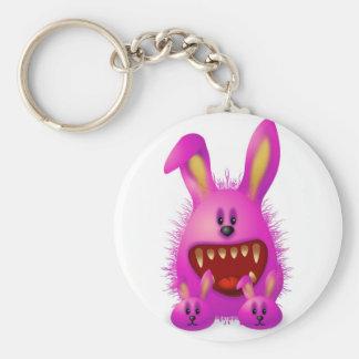 Monster 4 basic round button key ring