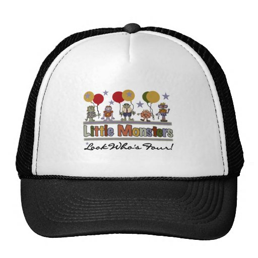 Monster 4th Birthday Tshirts and Gifts Hat