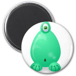 Monster 8 6 cm round magnet