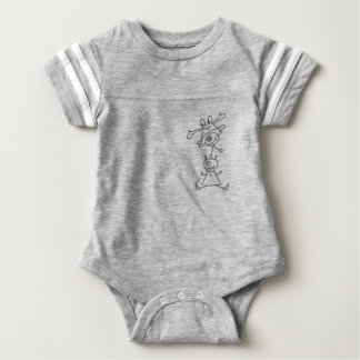 Monster acrobatics baby bodysuit