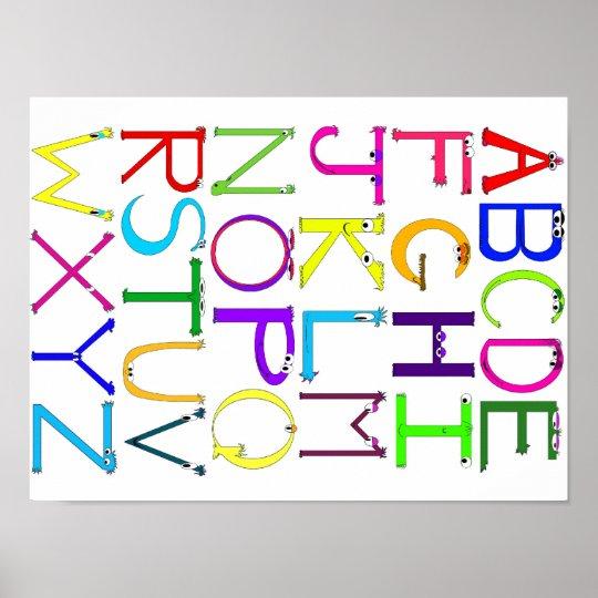 Monster Alphabet Poster