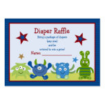 Monster Babies Baby Diaper Raffle Tickets Pack Of Chubby Business Cards