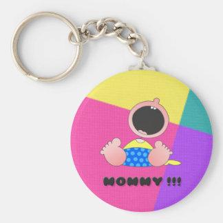Monster Baby Boy Basic Round Button Key Ring