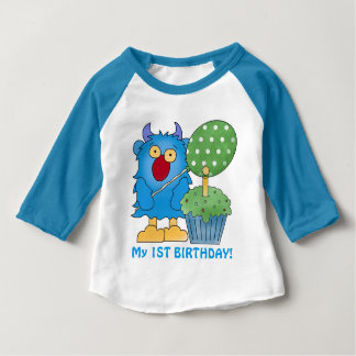 Monster baby first birthday baby T-Shirt