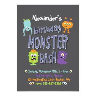 Monster Bash Birthday Party Invitation