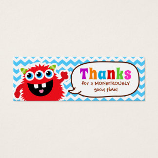 Monster Bash Favor Tag Birthday Party Mini Business Card