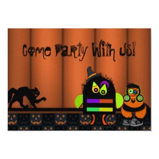 Monster Bash Halloween Party Custom Invites