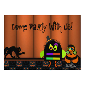 Monster Bash Halloween Party 13 Cm X 18 Cm Invitation Card