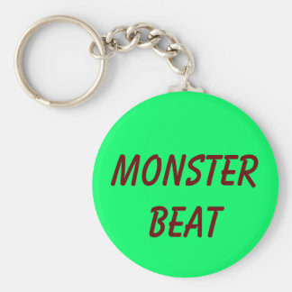 MONSTER BEAT BASIC ROUND BUTTON KEY RING