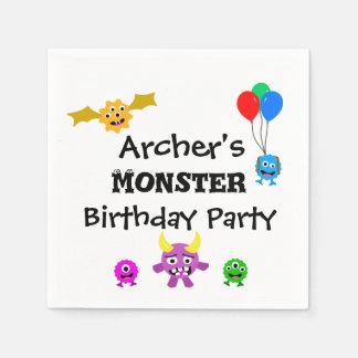 Monster Birthday Party Napkins Disposable Napkin