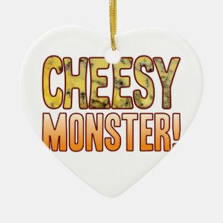 Monster Blue Cheesy Ceramic Heart Decoration