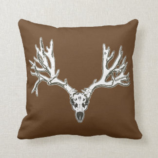 Monster buck deer skull throw pillow