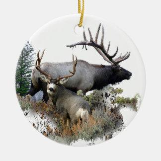 Monster bull trophy buck christmas ornament
