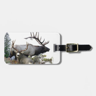 Monster bull trophy buck luggage tag
