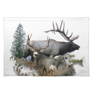 Monster bull trophy buck placemats