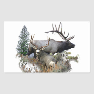 Monster bull trophy buck rectangular sticker