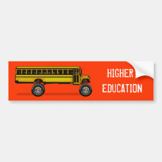 Monster Bus, HIGHER EDUCATION Bumper Sticker