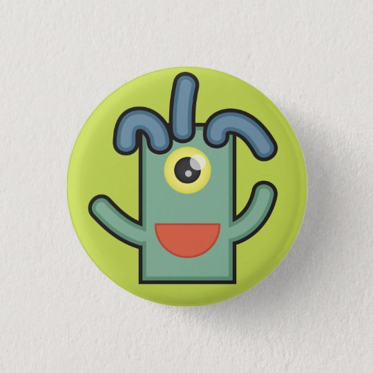 Monster Button: Noodle 3 Cm Round Badge