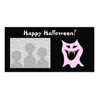 Monster Cartoon, Black and Pink. Picture Card