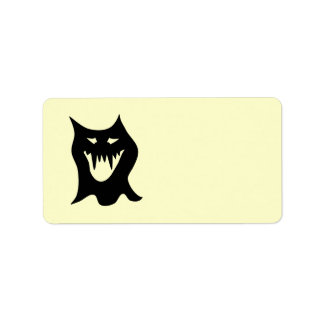 Monster Cartoon, Black. Label