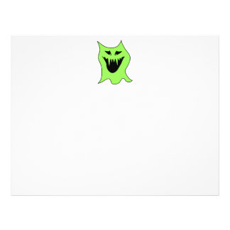 Monster Cartoon Green and Black Full Color Flyer
