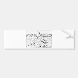 Monster catfish bumper sticker