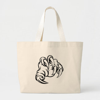 Monster Claw Hand Large Tote Bag