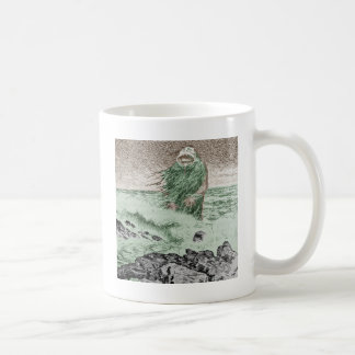 Monster Coming Out of the Water Basic White Mug