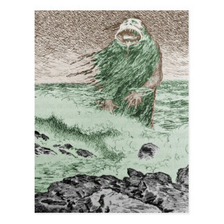 Monster Coming Out of the Water Postcard