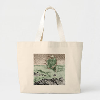 Monster Coming Out of the Water Canvas Bags