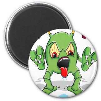 Monster Creature 6 Cm Round Magnet
