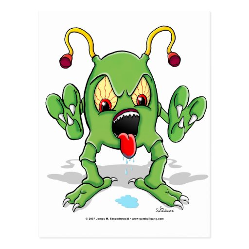 Monster Creature Postcard