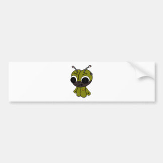 Monster doll bumper sticker