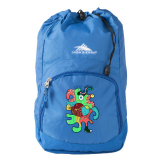Monster doodle backpack