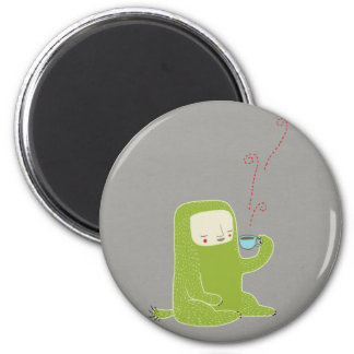 monster drinking coffee fridge magnets