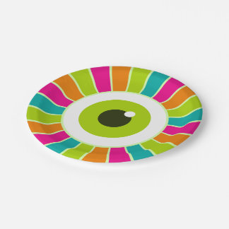 Monster Eye Design Paper Plate