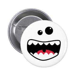 Monster face 6 cm round badge