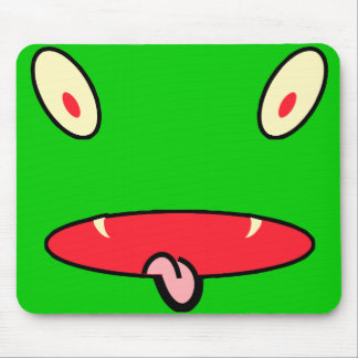monster face mouse pad
