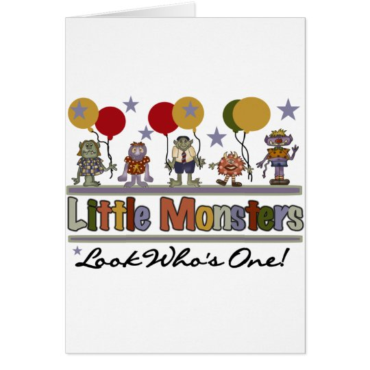Monster First Birthday T shirts and Gifts Card