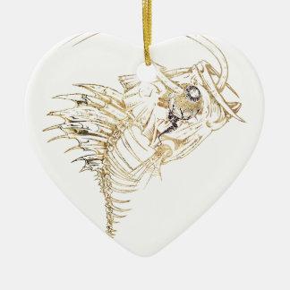 Monster Fishing Bait Ceramic Heart Decoration