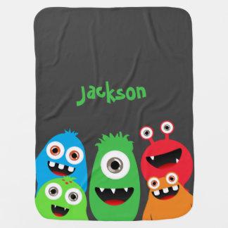 Monster Friends Swaddle Blankets