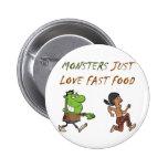 Monster Full Pinback Button