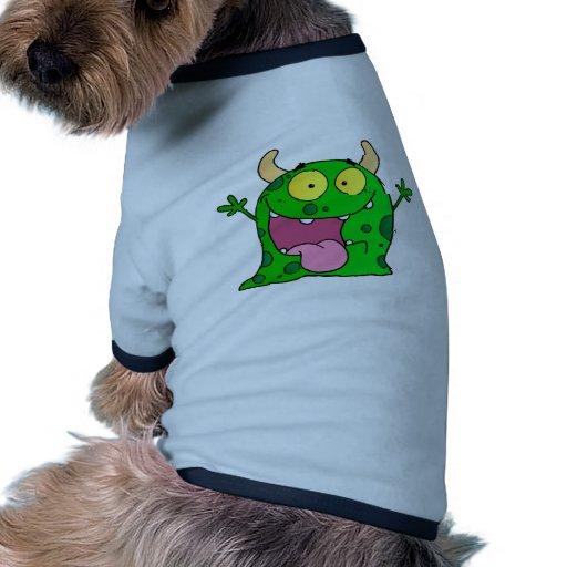 Monster Funny Comic Drawing Cartoon Cute Happy Dog Tee Shirt
